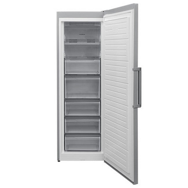 NORDMENDE RTF393NFRIXAPLUS  Freestanding Frost Free Freezer 60cm in Stainless Steel - Free 3yr Parts & Labour Warranty On Registration
