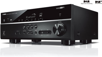 Yamaha RX-D485 AV Receiver with DAB Tuner- Black