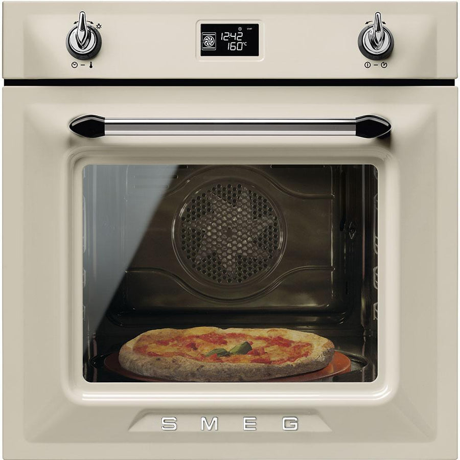Smeg Victoria SF6922PPZE1 Built In Electric Single Oven - Cream