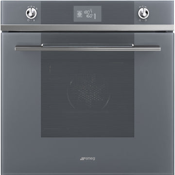 Smeg SFP6102TVS Linea Pyrolytic Multifunction Single Oven in Silver
