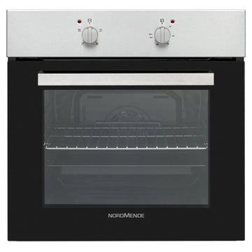 NORDMENDE SO106IX 65L Single Fan Oven - Stainless Steel & Black Glass with Free 3yr Parts&Labour Warranty