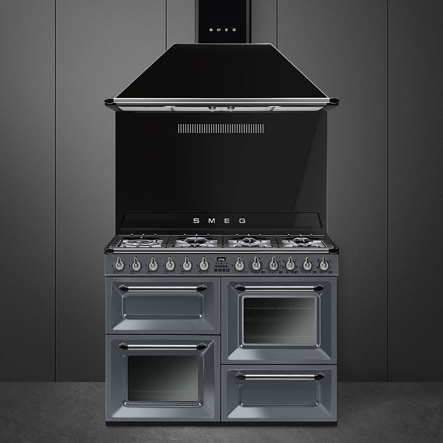 Smeg Victoria TR4110GR 110cm Dual Fuel Range Cooker, A Energy Rating, Slate Grey