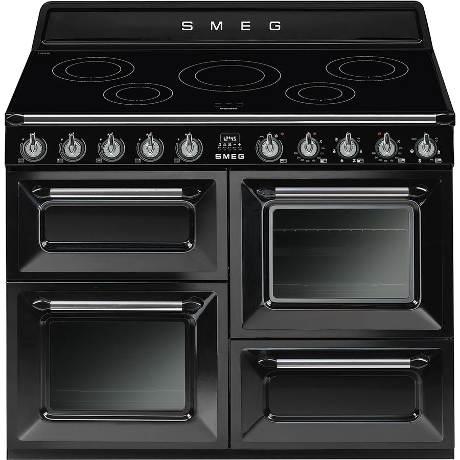 Smeg TR4110IBL 110cm Victoria Range Cooker with Induction Hob - Black