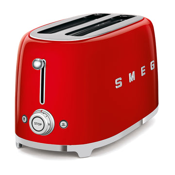 Smeg TSF02RDUK Retro 4 Slice Toaster In Red