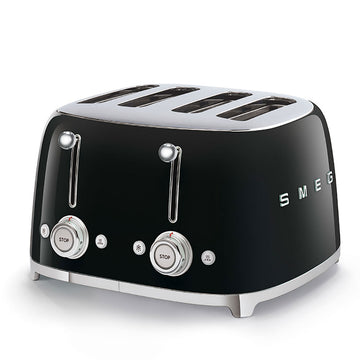 Smeg TSF03BLUK Retro Style 4 Slice Toaster In Black