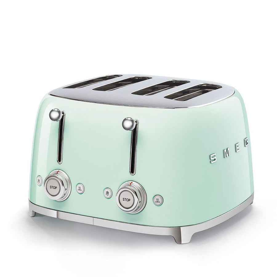 Smeg TSF03PGUK Retro Style 4 Slice Toaster In Pastel Green
