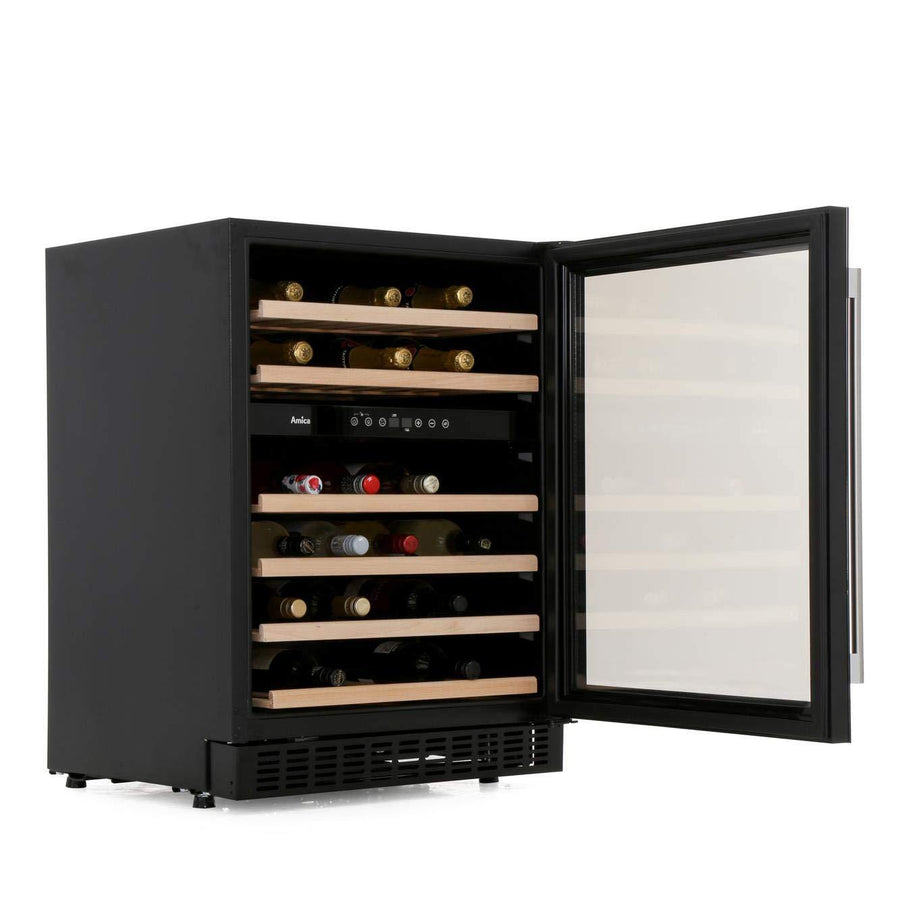 Amica AWC600BL Freestanding Wine Cooler In Black