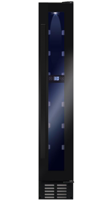 Amica AWC151BL Wine Cooler UV protected door - Black