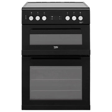 Beko KDC653K 60cm Double Oven Electric Cooker With Ceramic Hob - Black
