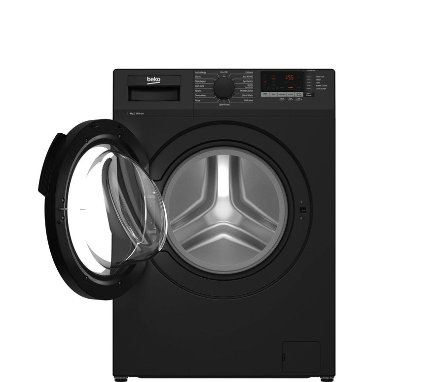 Beko WTL84151B 8Kg 1400 Spin Washing Machine Black - A+++ energy rating