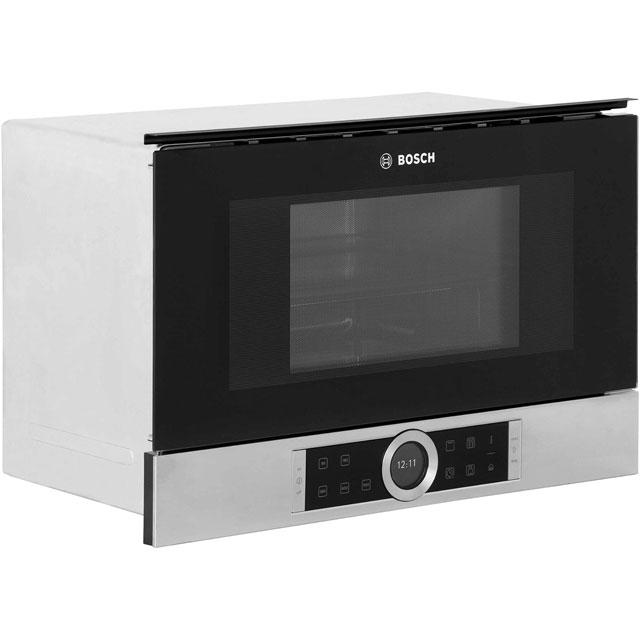 Bosch Serie 8 BEL634GS1B Built In Microwave With Grill - Brushed Steel