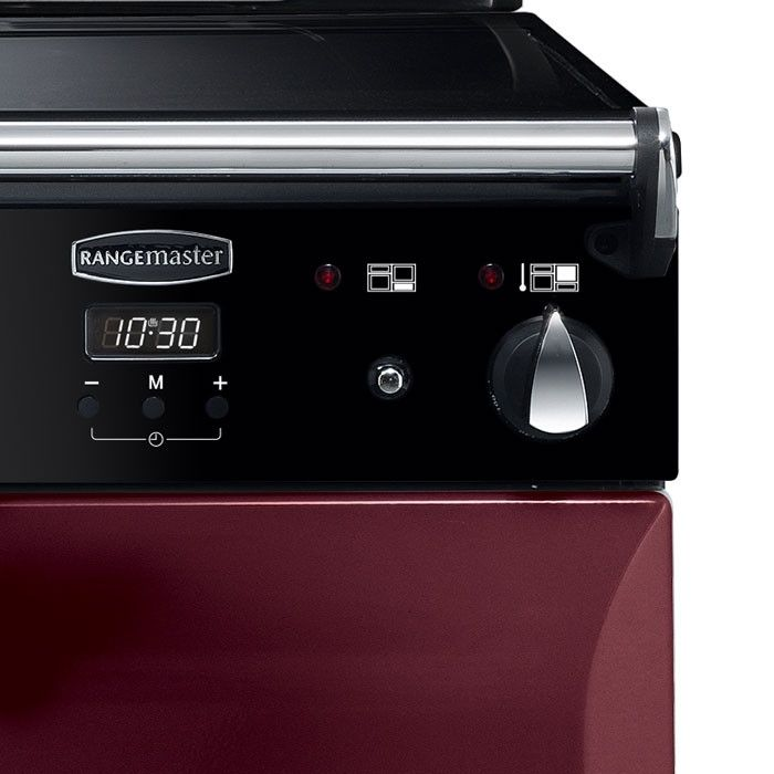 Rangemaster ELA110EICY Elan Deluxe 110cm Electric Induction Range Cooker in Cranberry