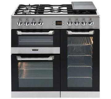 Leisure Cuisinemaster CS90F530X Dual Fuel Double Oven Cooker with Grill - LPG/Natural Gas - 90 cm - Stainless Steel