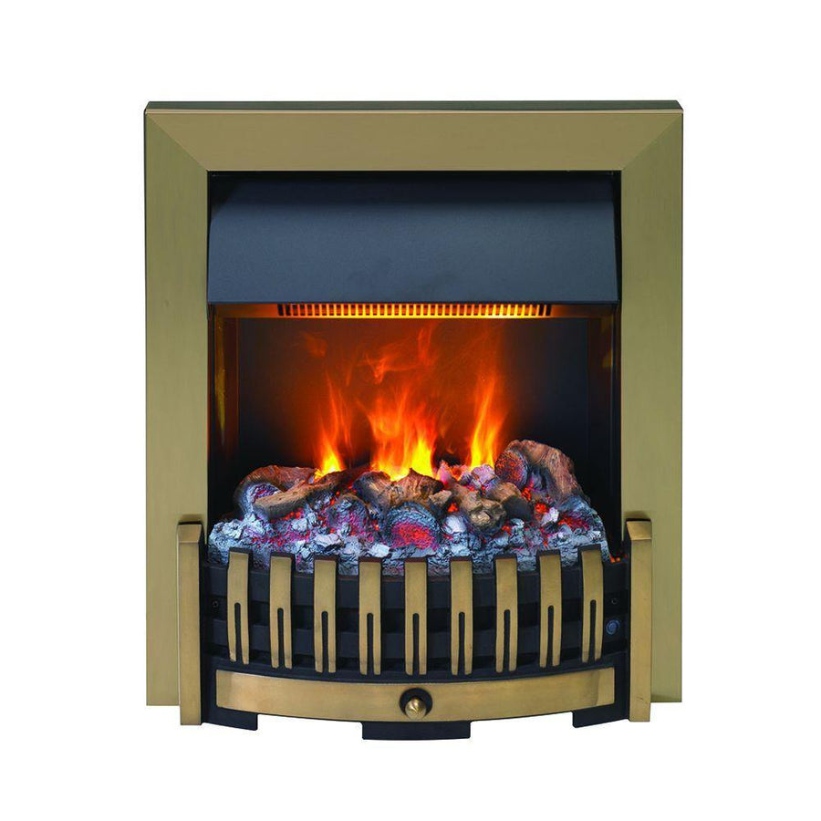 Dimplex DNV20AB Danville Antique Optimyst Inset Electric fire in brass.