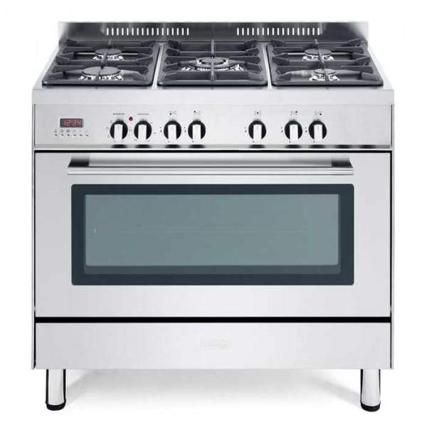 De______Longhi DSR906DF 90CM Professional Line Single Cavity Dual Fuel Range Cooker in Stainless Steel