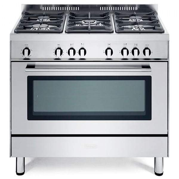 De______Longhi DSR906G 90CM Professional Line Gas Range Cooker in Stainless Steel