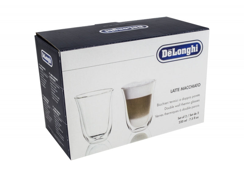 De'longhi 5513214611 Lattemacchiato Thermo Glasses - Pack of 2