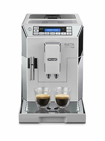 Delonghi ECAM45.760.W Eletta Cappuccino Top Bean-to-Cup Automatic Coffee Machine with Grinder & Frother - White
