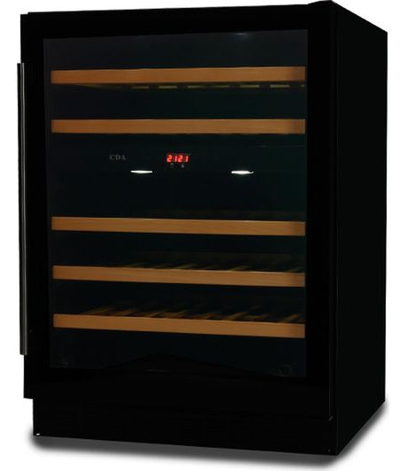 CDA FWC603BL Freestanding-Under Counter Wine Cooler In Black