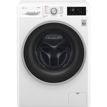 LG F4J610WS 10kg Steam Washing Machine 1400rpm – White with Free 5yr Warranty if purchased by 31 May 2020