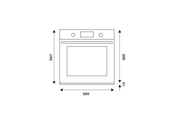 Bertazzoni F6011MODELZ Zinc 60cm Electric Built-in oven LCD display