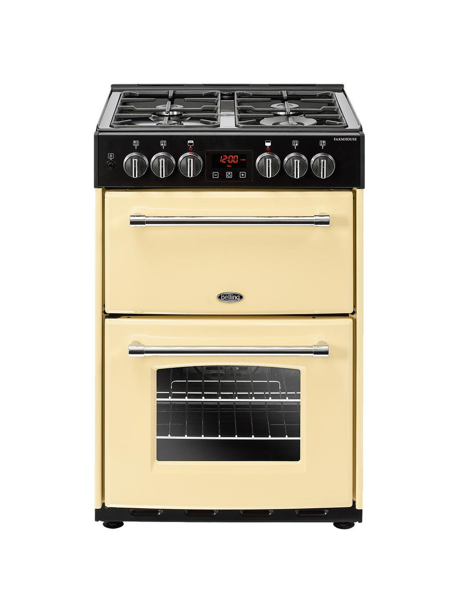 Belling FH60DFTCR 60Cm Farmhouse Dual Fuel Cooker -in  Cream