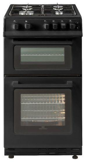 Bellling FSG50TCBLKLPG, 50cm, Freestanding Gas Cooker In Black