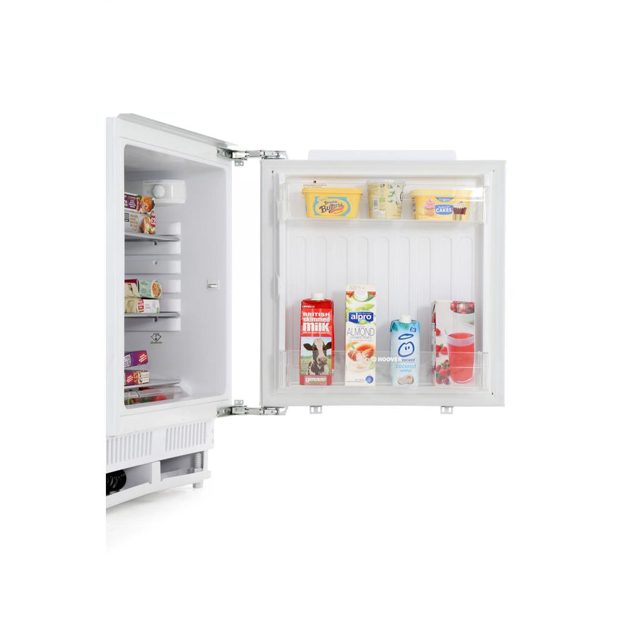 Hoover HBRUP160NK 135 Litre Under Counter Integrated Fridge - White Finish