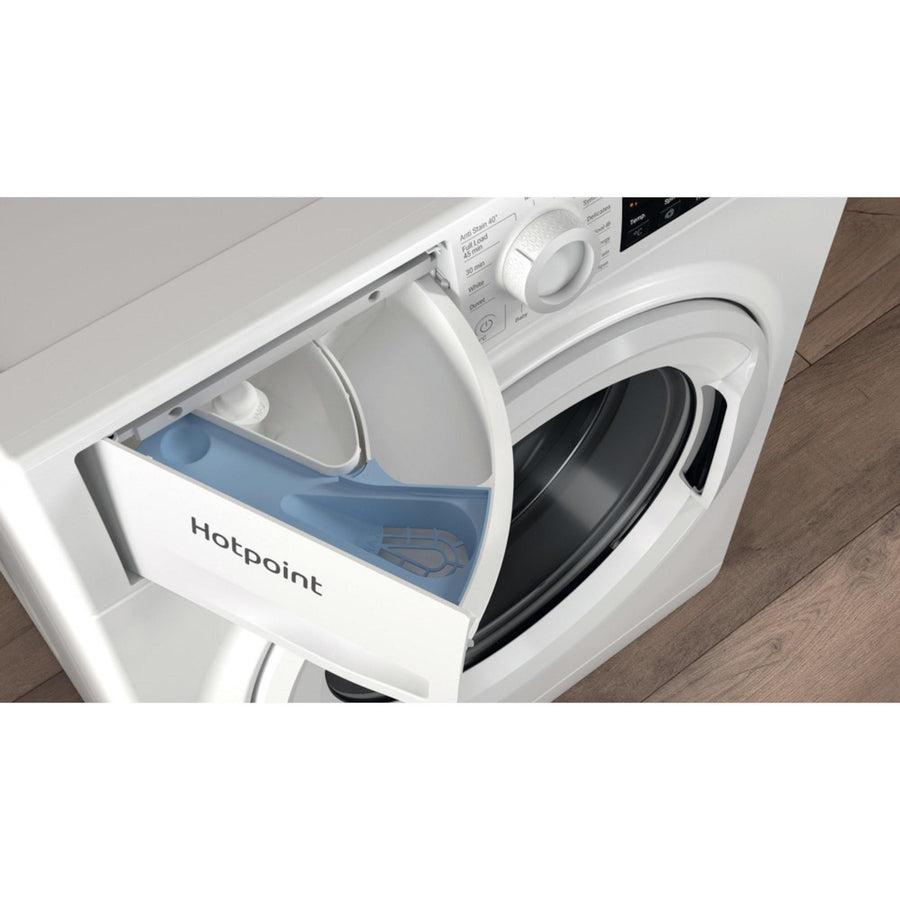 Hotpoint NSWF742UWUKN 7kg washing machine - LED/LCD display - Detergent compartment