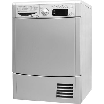 Indesit Eco Time IDCE8450BSH 8Kg Condenser Tumble Dryer - Silver - B Rated