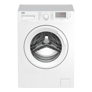 Beko WTG941B3W 9kg washing machine with 1400rpm spin speed in white. Extra large porthole door.