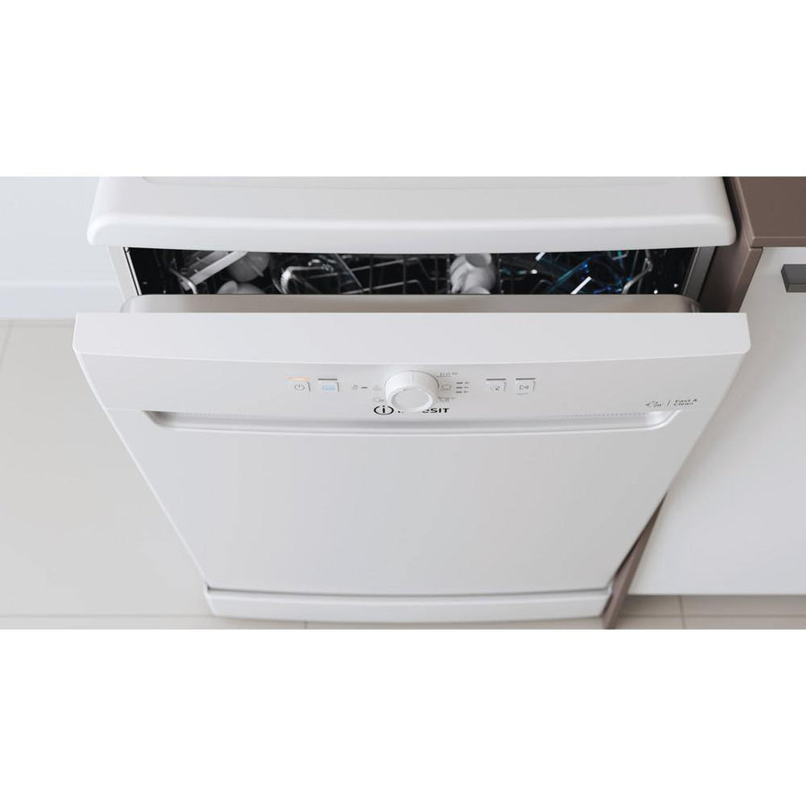 Indesit DFE1B19 Full Size Dishwasher In White - A+ Rated