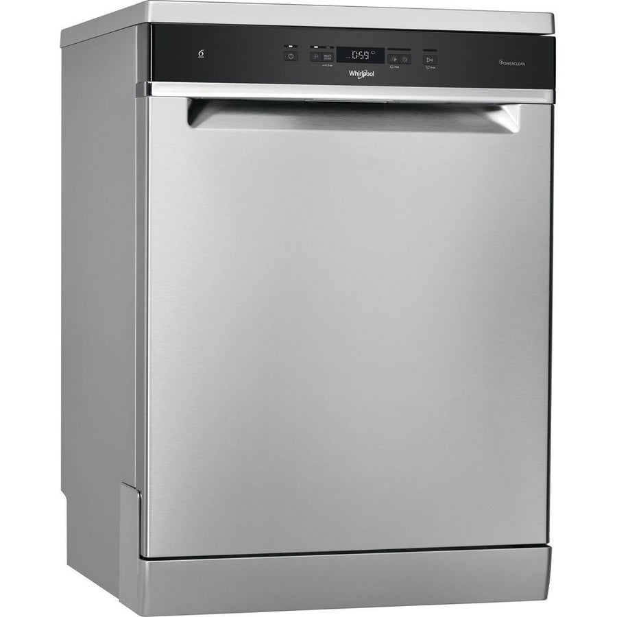 Whirlpool WFC3C33PFXUK 14 Place Setting Freestanding Dishwasher - Stainless Steel Effect - A+++ Rated
