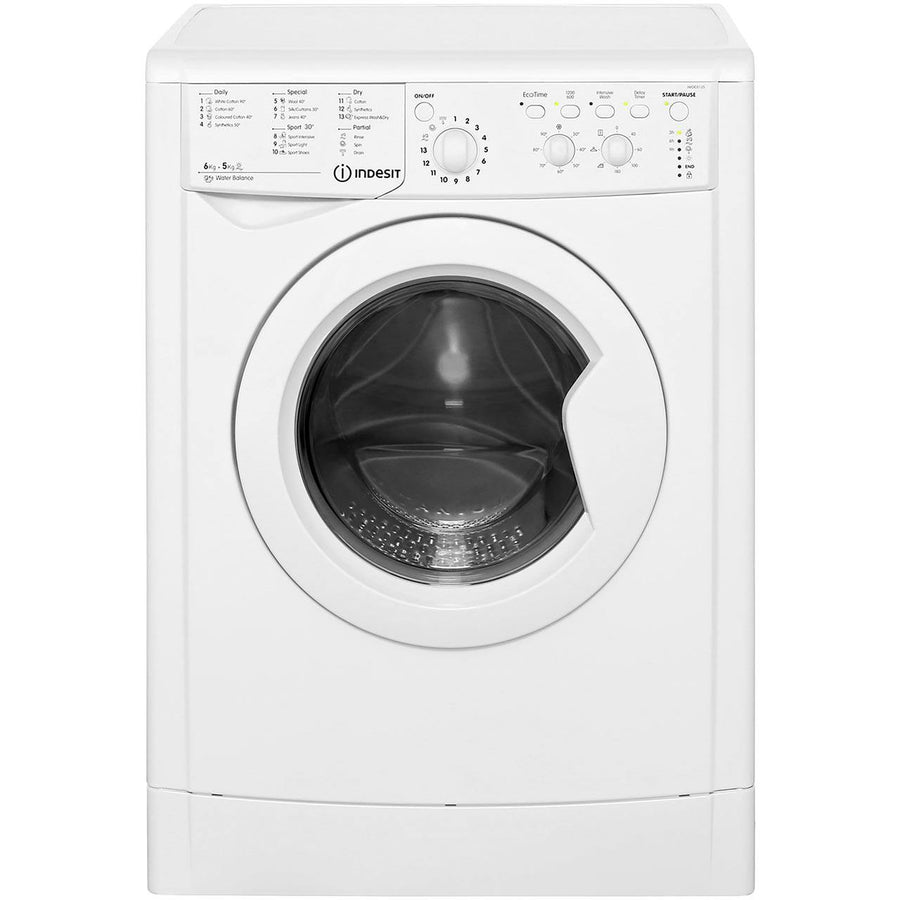 Indesit Ecotime IWDC 6125 Washer Dryer in White
