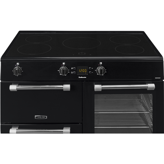 Leisure Cookmaster CK100D210K - 100cm Electric Range Cooker with Induction Hob - Black - A/A Rated