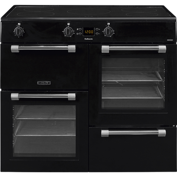 Leisure Cookmaster CK100D210K 100cm Electric Range Cooker with Induction Hob - Black - A/A Rated