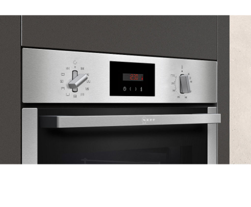Neff B6CCG7AN0B Built-In Pyrolytic Slide and Hide Single Oven, A Energy Rating, Stainless Steel