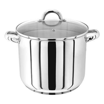 Judge JP83 26cm Stainless Steel Stockpot With Vented Glass Lid, 10 Litre
