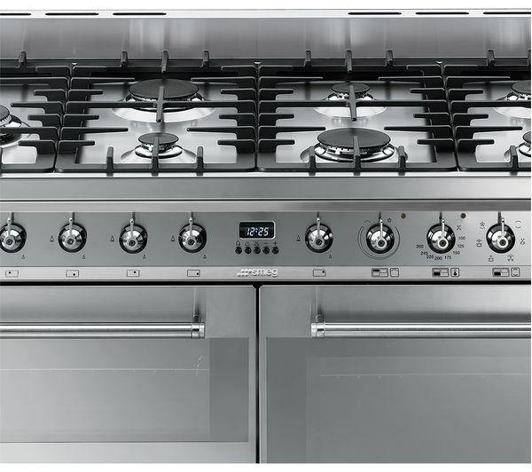 SMEG Symphony SYD4110 110 cm Dual Fuel Range Cooker - Stainless Steel