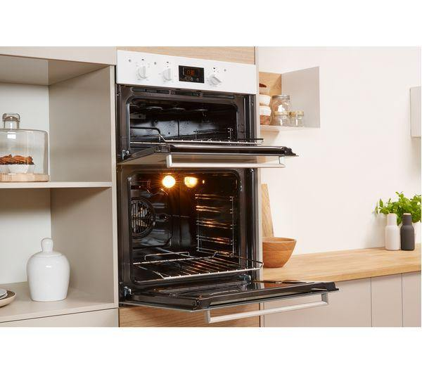 Indesit Aria IDD6340WH Built In Double Oven - White - A/A Rated