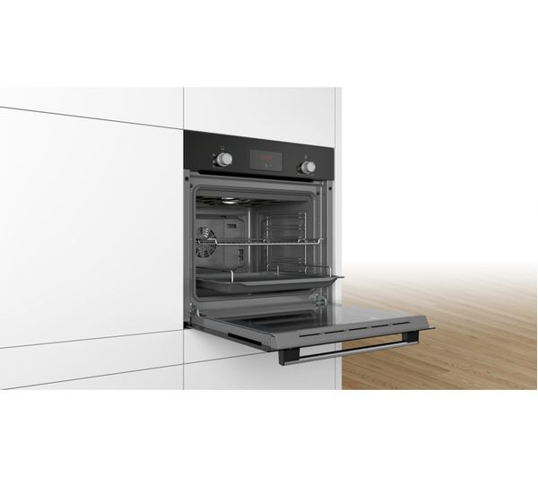 Bosch HHF113BA0B Built In Electric Single Oven - Black - A Rated