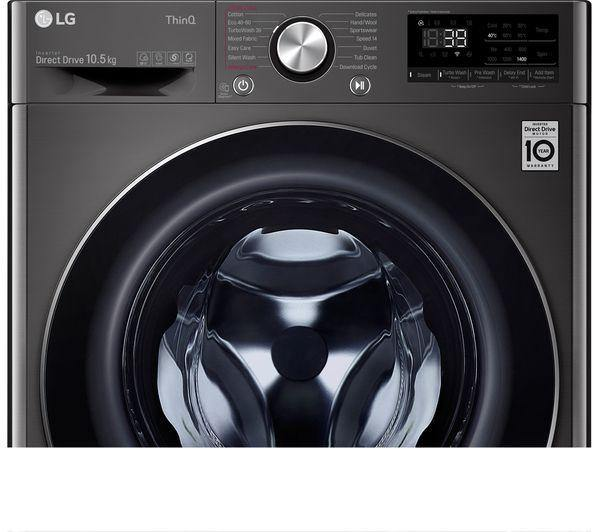 LG F4V910BTSE Turbowash360 10.5kg 1400rpm Washing Machine - Black