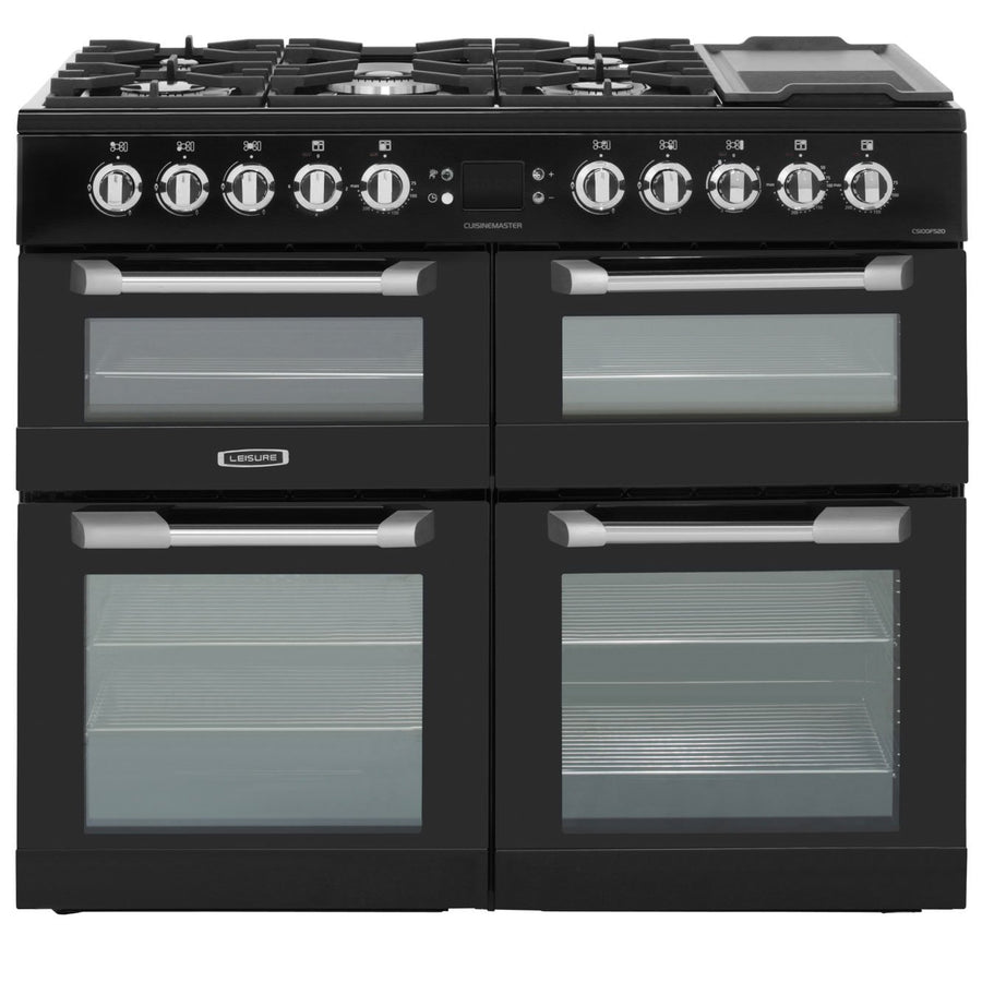 LEISURE CS100F520K Cuisinemaster 100cm Dual Fuel Range Cooker - Black  £1059 - After £150 Cashback from Leisure - £909 (T&C Apply)