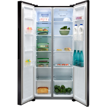 Fridgemaster MS83430FFB American Fridge Freezer - Black - A+ Rated
