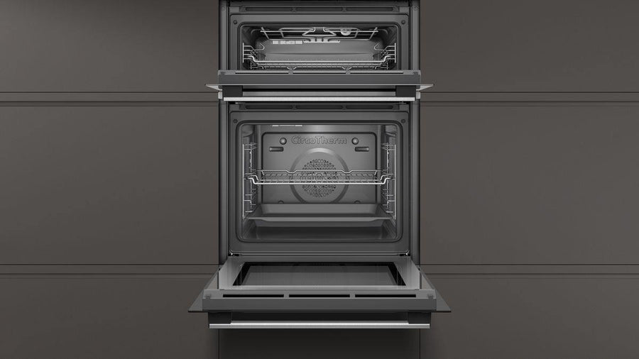 Neff U1GCC0AN0B Built-In Double Oven In Stainless Steel