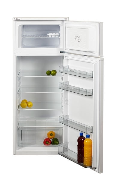 NORDMENDE RFF264WHA Freestanding Fridge Freezer In White - Free 3yr Parts & Labour Warranty On Registration