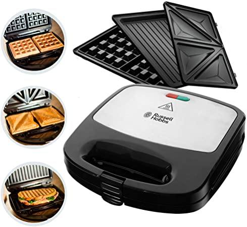 Russell Hobbs 3-in-1 24540 Sandwich Toaster - Black / Stainless Steel