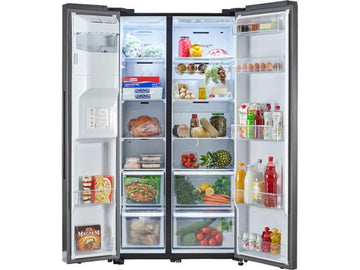 Samsung RS68N8230B1 American Style Fridge Freezer, A+ Energy Rating, 91cm Wide, Black - £200 cashback from Samsung if purchased by 07/04/2020