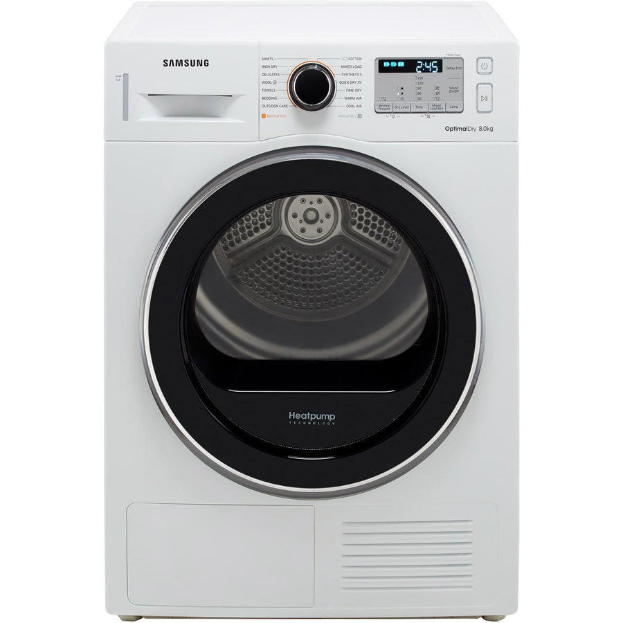 Samsung DV80M5013QW 8kg Heat Pump Condenser Tumble Dryer  A++ Energy rating and Free 5 year Parts & Labour Warranty (T&C Apply)