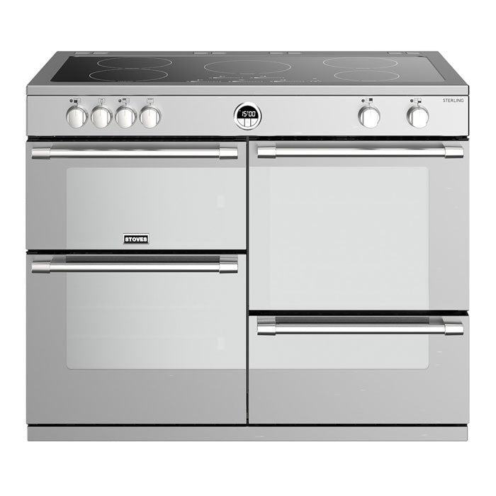 Stoves Sterling 1000EI Induction Hob Range Cooker, Stainless Steel